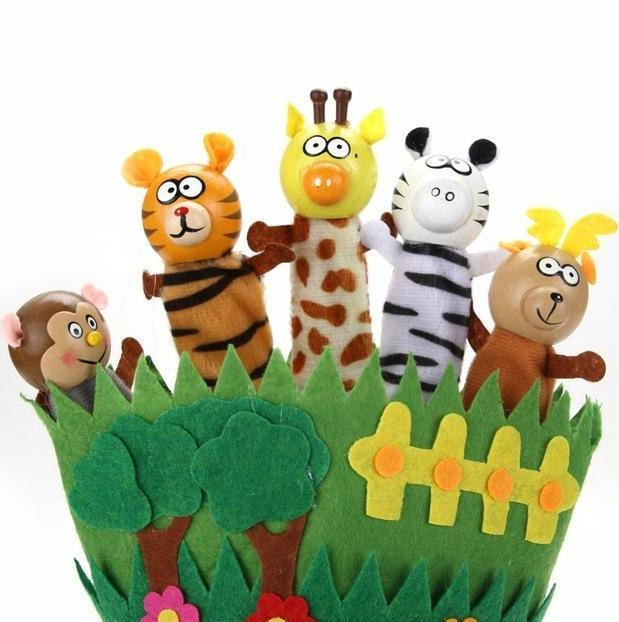 Safari Hand Puppet Animals - Spotty Dot