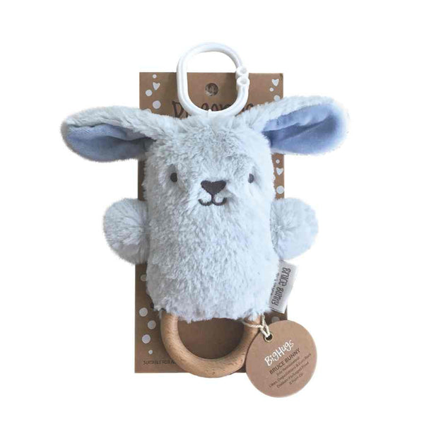 Bruce Bunny Blue Dingaring Teether / Rattle