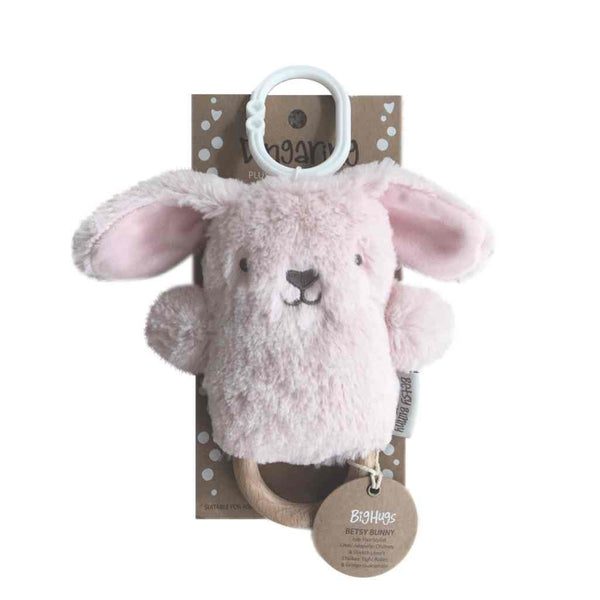 Betsy Bunny Pink Dingaring Teether / Rattle