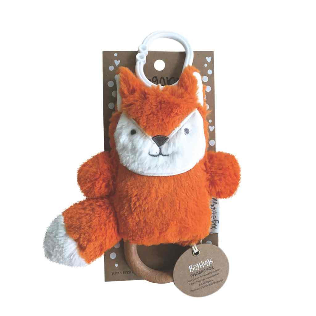 Phoebe Fox Orange Dingaring Rattle / Teether