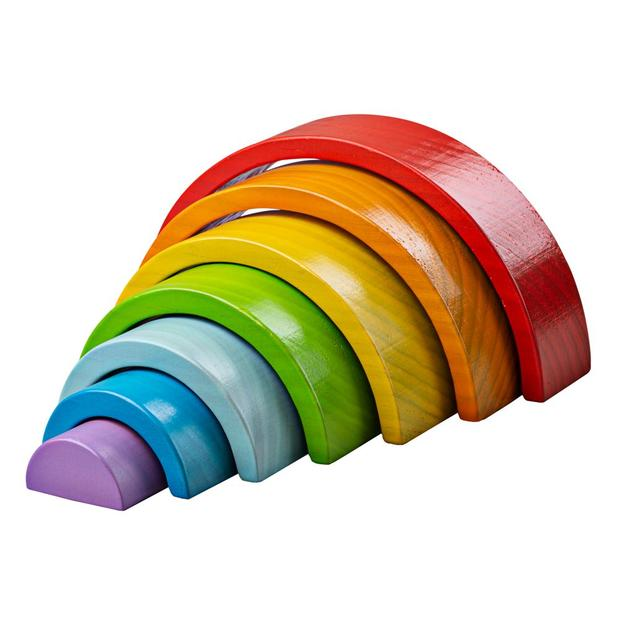 Big Jigs Wooden Stacking Rainbow Small www.spottydot.com.au