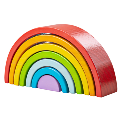 Big Jigs - Wooden Stacking Rainbow Small www.spottydot.com.au