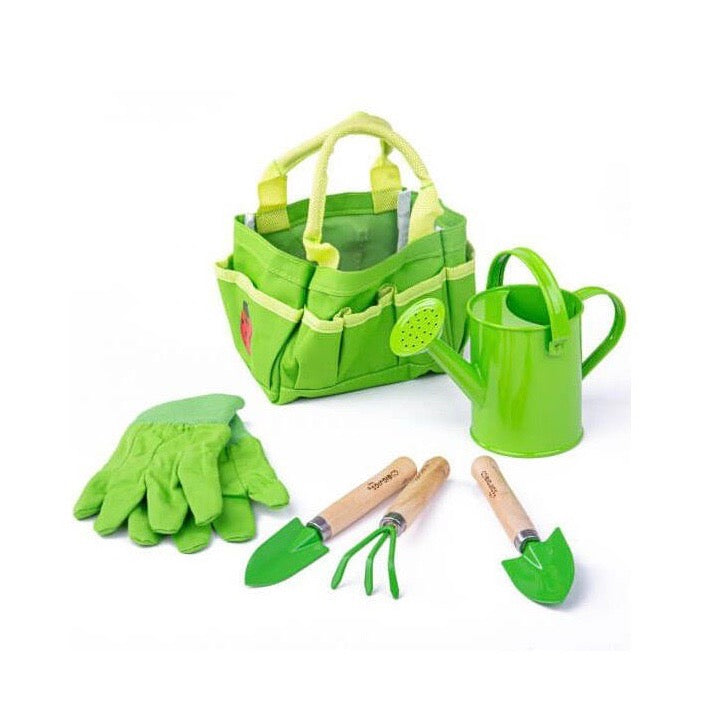 Small Tote Bag with Garden Tools - 3+