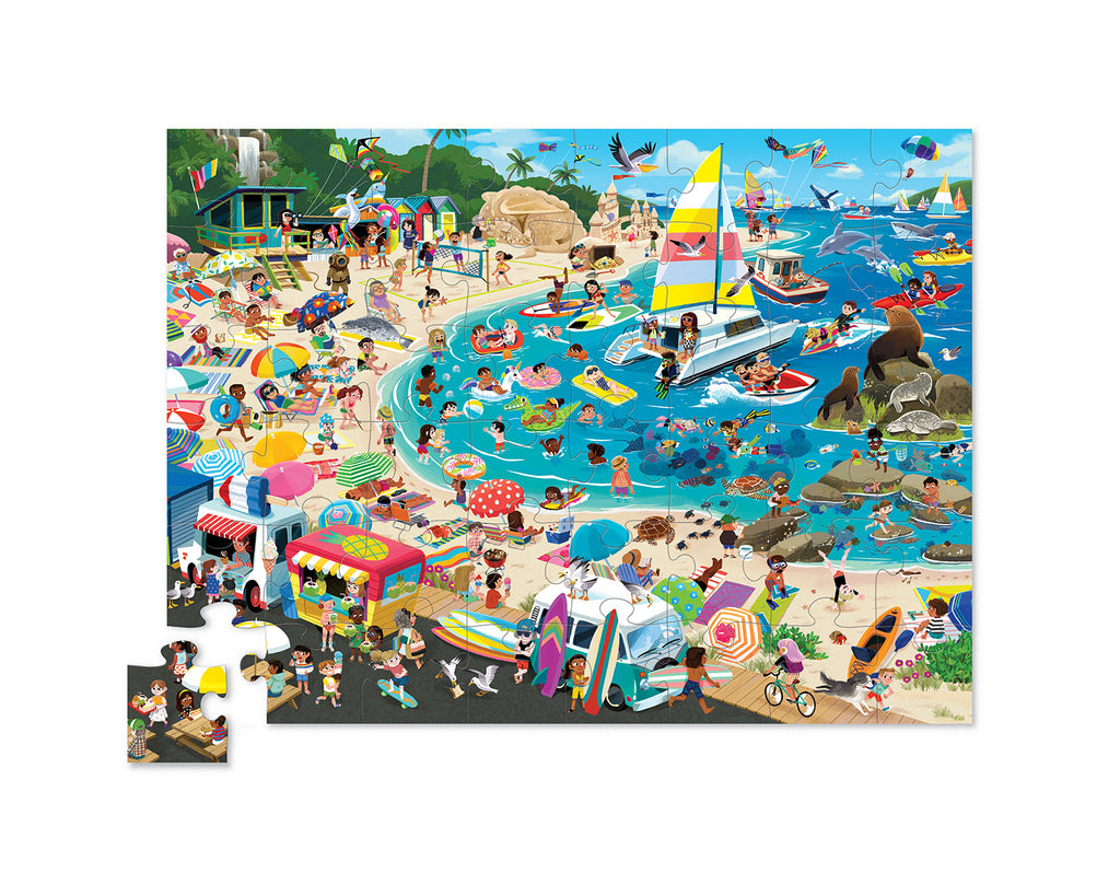 Crocodile Creek - Day at the Museum Puzzle - 48 pieces - Beach