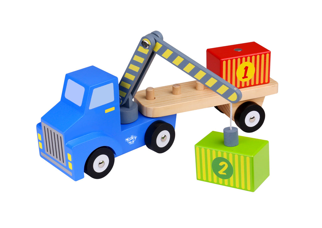 Tooky Toy Container Loader Spotty Dot Wooden Toy