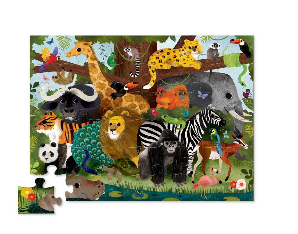 Crocodile Creek - Jungle Friends - Classic Floor Puzzle - 36 pieces
