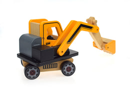 Tooky Toy Excavator Spotty Dot Wooden Toy