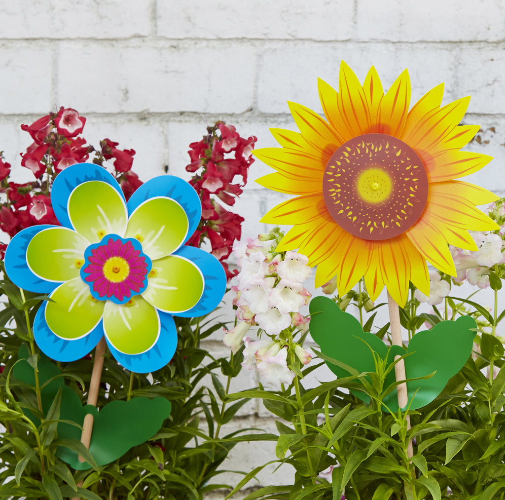 Whirly windmills Sunflower & Fiore windmill / pinwheel for sensory play outdoor garden decoration