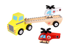 Tooky Toy Helicopter Carrier Wooden Toy