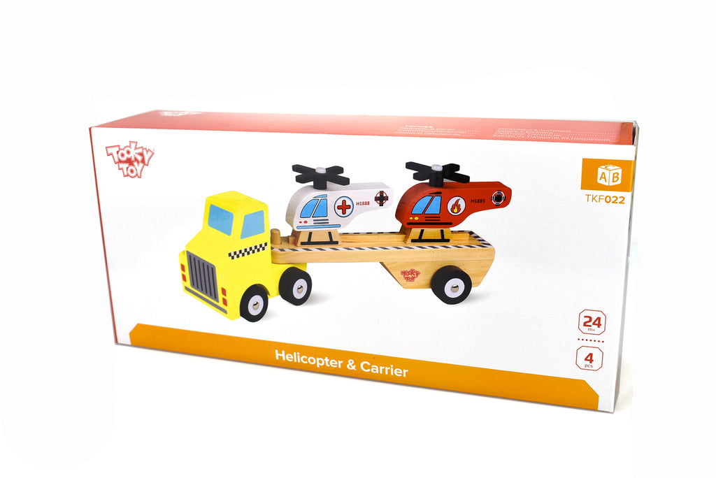 Tooky Toy Helicopter Carrier Spotty Dot