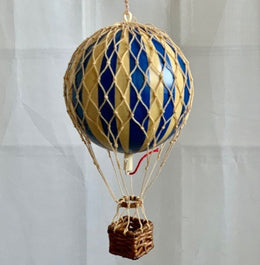Blue Hot Air Balloon by spottydot.com.au