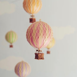 Pink Hot Air Balloon by spottydot.com.au