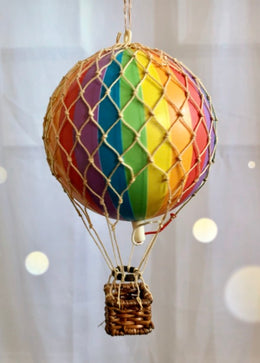 Rainbow Hot Air Balloon by spottydot.com.au