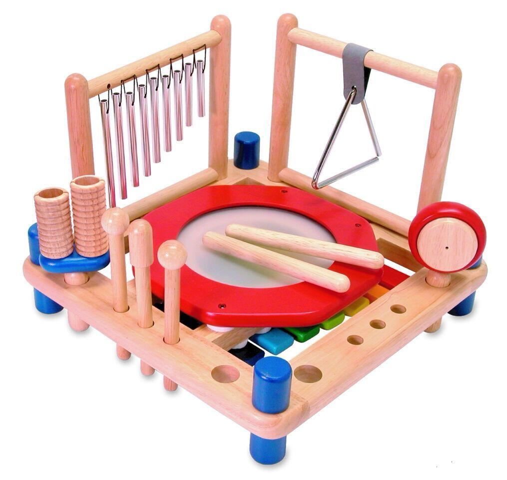 I'm Toy Wooden Melody Mix Age 3+ Drum Xylophone Chimes Triangle www.spottydot.com.au