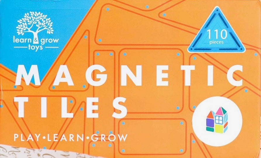 Learn & Grow Magnetic Tiles - 110 piece set www.spottydot.com.au