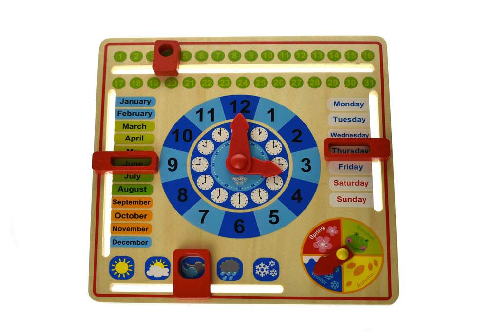 Tooky Toy Wooden Toy My Calendar Spotty Dot Educational
