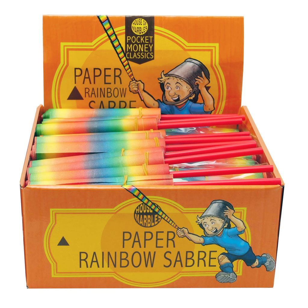 Rainbow Paper Sabre- Spotty Dot