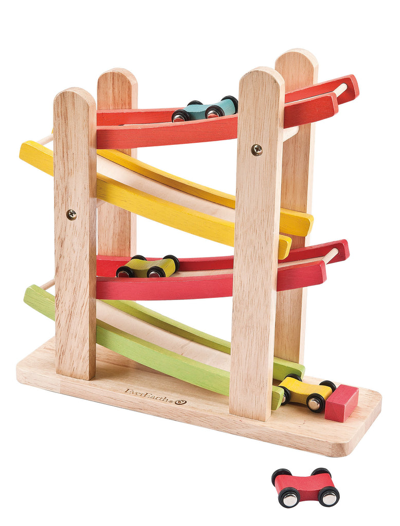 Ever Earth Ramp Racer Wooden Toy Spotty Dot