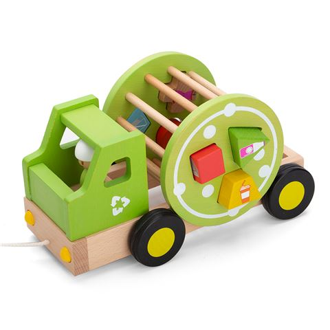 Ever Earth Green Recycling Truck Pull Along Shape Sorter