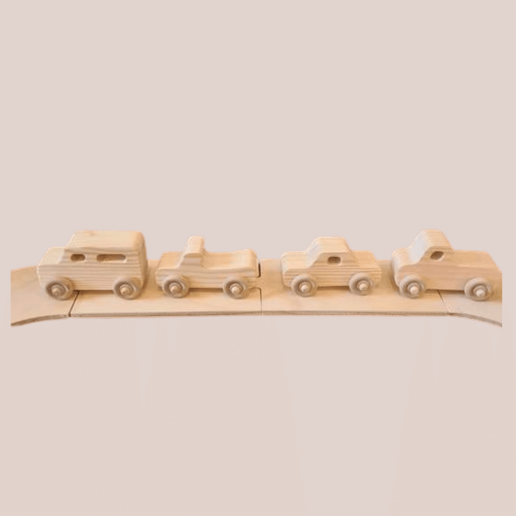 The Wooden Toy Co Vehicle Set Spotty Dot