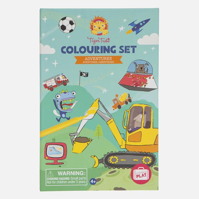 Tiger Tribe - Colouring Activity Set Adventure - Age 4+