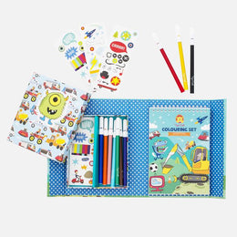 Tiger Tribe Colouring Adventures Set - Spotty Dot