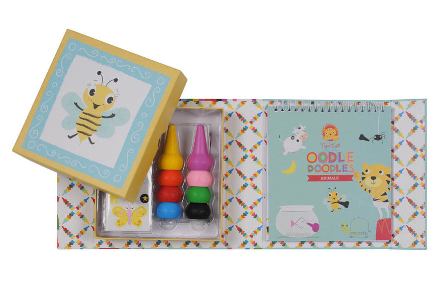 Tiger Tribe - Oodle Doodles Animal Stackable Crayons - Age 3+