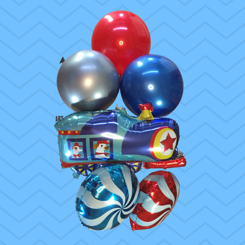 Train Balloon Bouquet - Medium