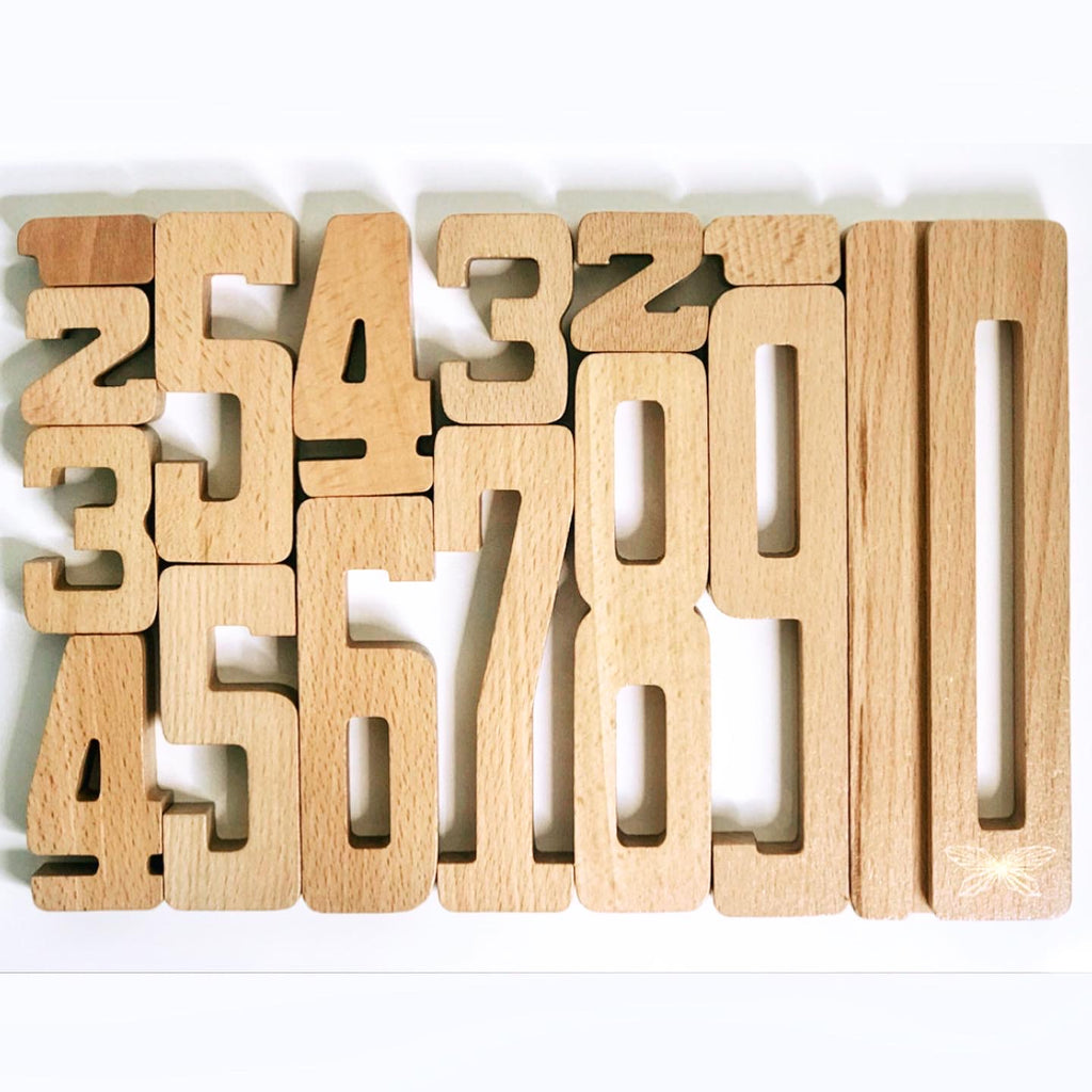 By Astrup Number Wooden Blocks www.spottydot.com.au