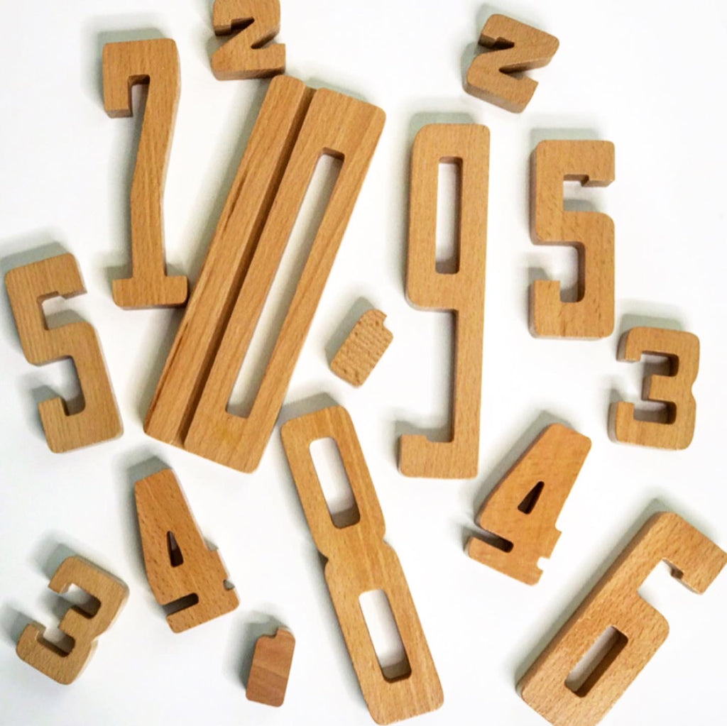 By Astrup Wooden Number Blocks www.spottydot.com.au