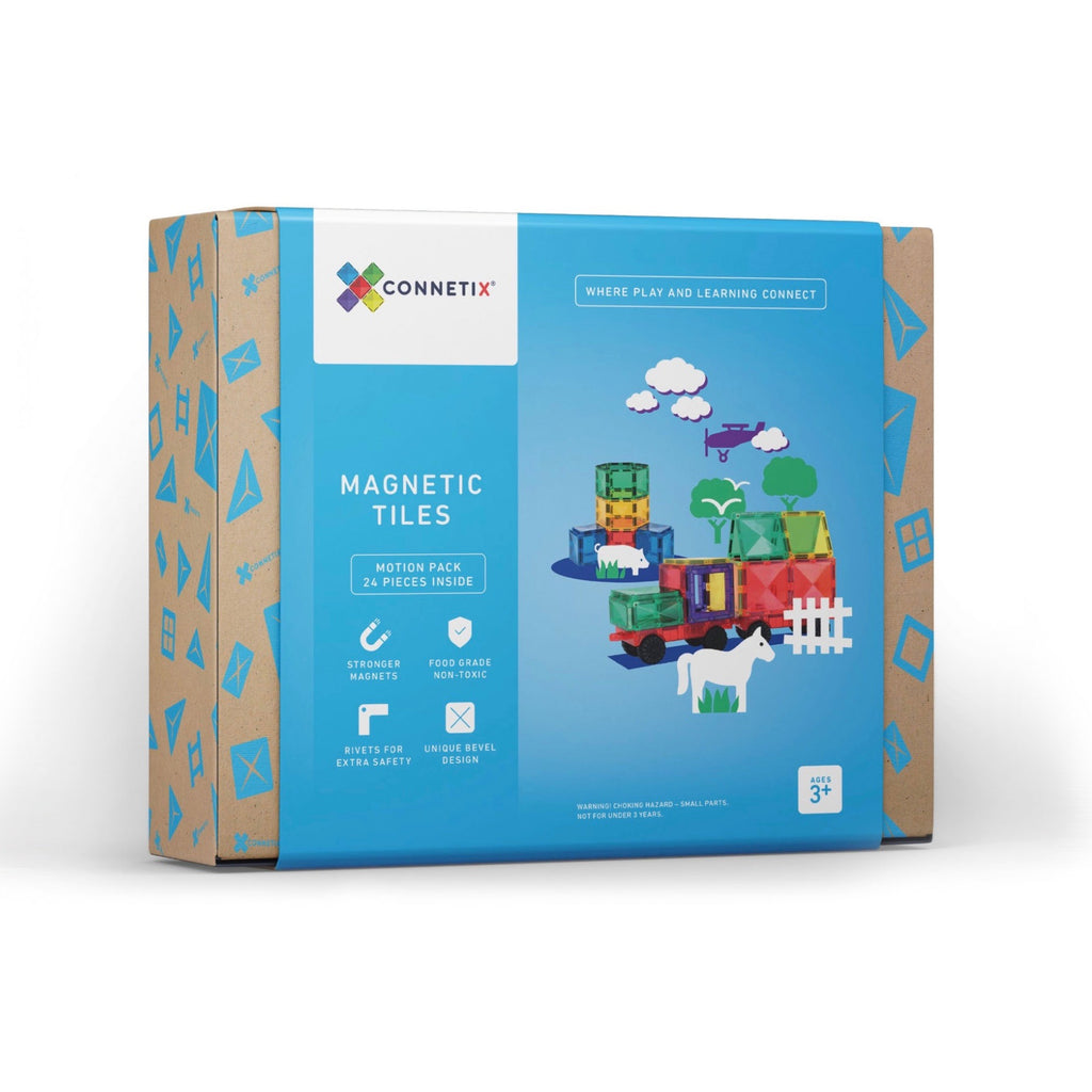 Connetix - Magnetic Tiles - 24 Piece Motion Pack