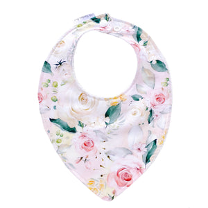 Clementine Floral Baby Bib - Little Bambino Bear