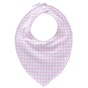 Pink Gingham Baby Bib - Little Bambino Bear