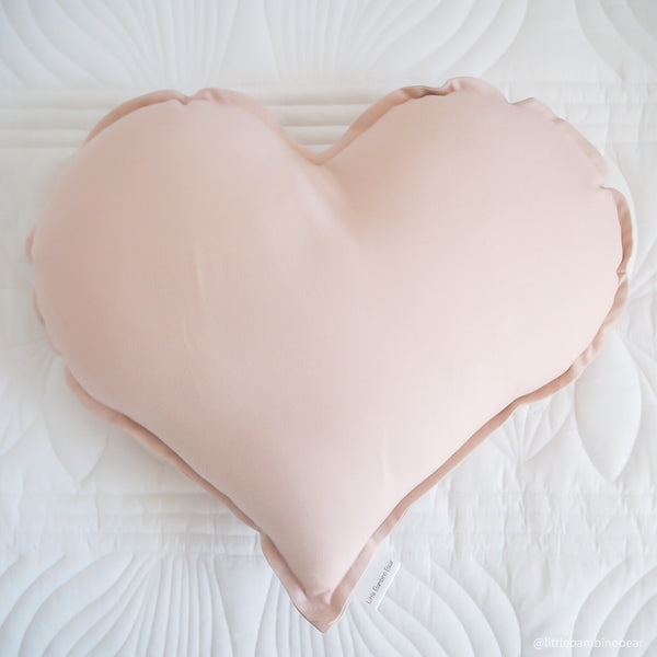 Baby Pink Heart Cushion | Little Bambino Bear