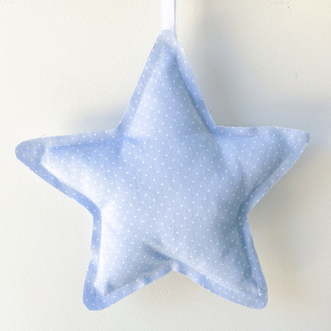 Baby Blue Spot Star Wall Hanging - Little Bambino Bear