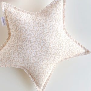 Beige Floral Star Cushion | Little Bambino BeAR