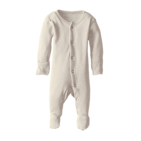 Organic Footed Overall - Beige - Little Bambino Bear