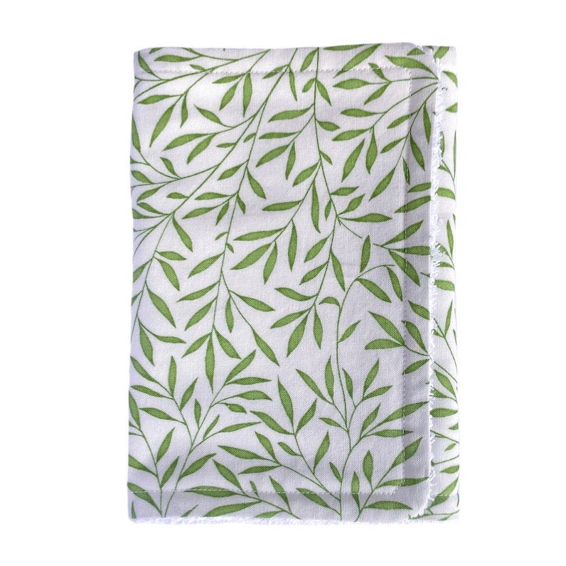 Handmade Burp Cloth - Lily Leaf