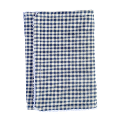 Navy Check Handmade Burp Cloth - Little Bambino Bear