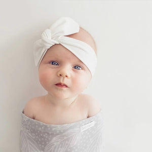 Baby Topknot Headband - White