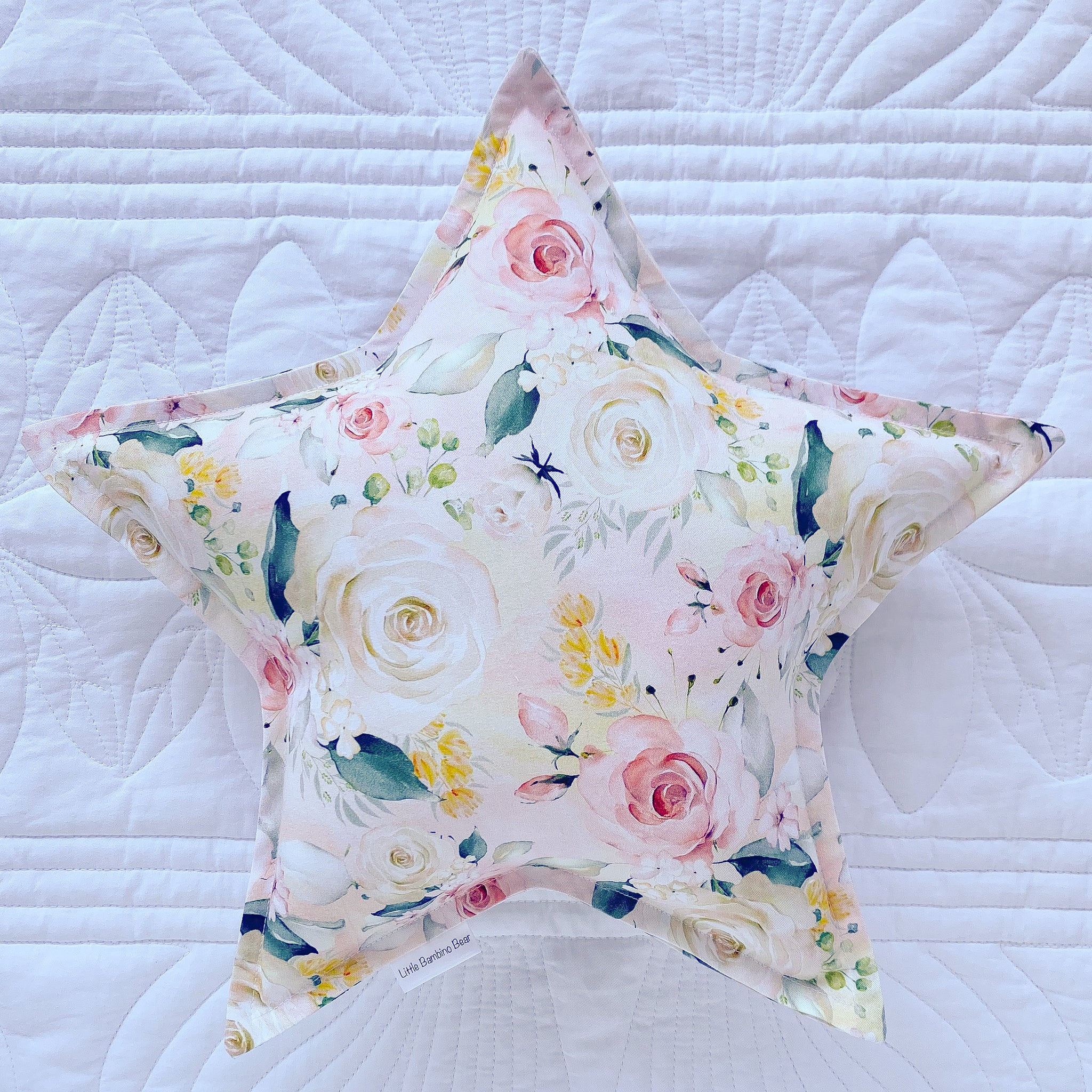 Clementine Floral Star Cushion - Little Bambino Bear