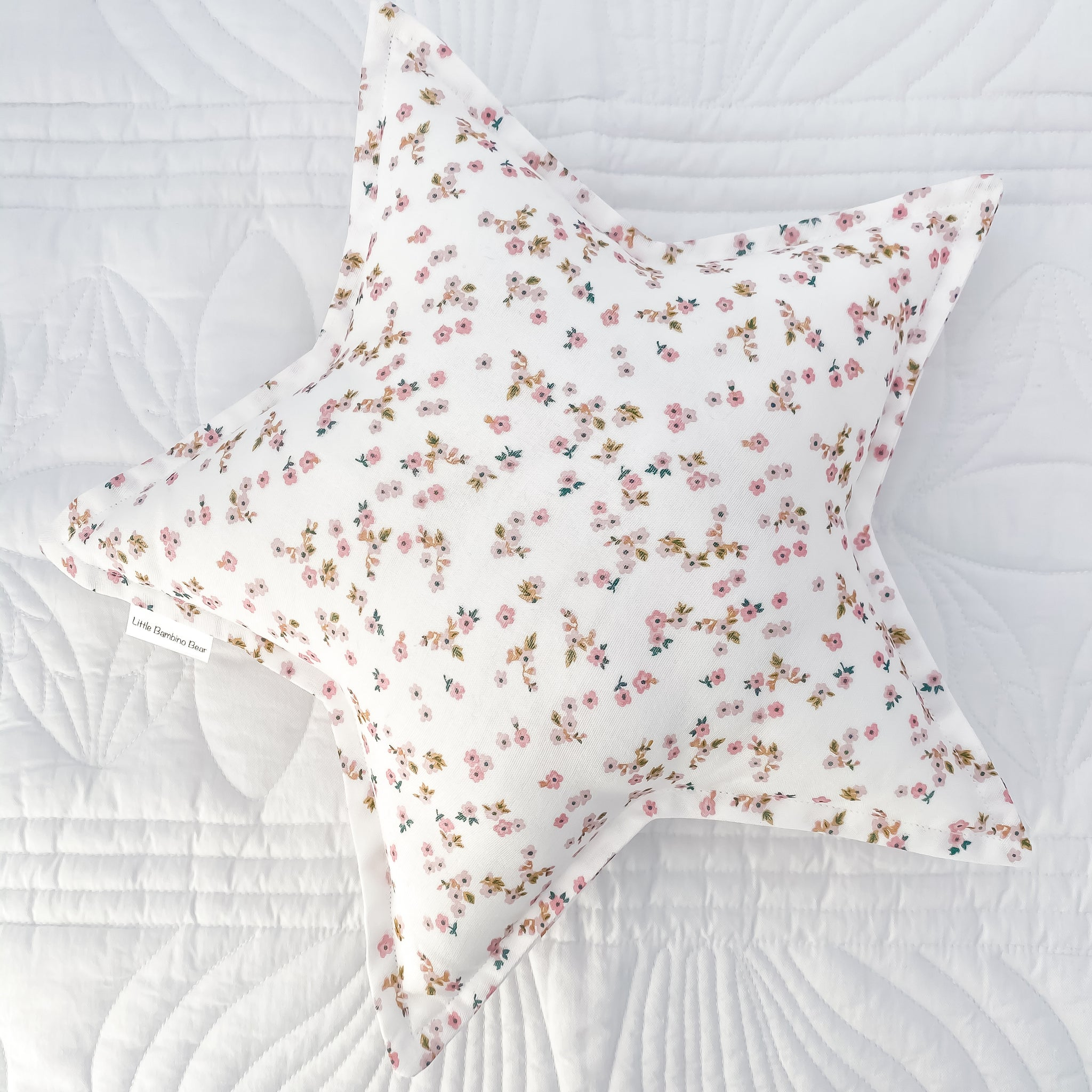 Daisy Floral Star Cushion - Little Bambino Bear