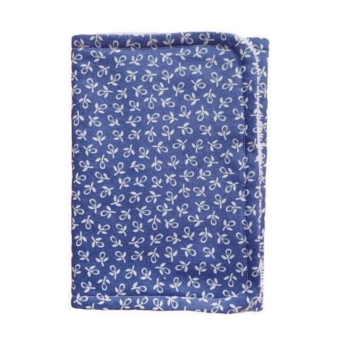 Handmade Burp Cloth - Dark Blue Floral