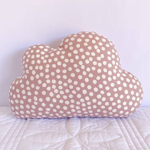 Dusty Pink Dot Cloud Cushion - Little Bambino Bear