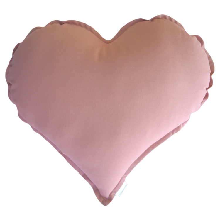 Dusty Pink Heart Cushion - Little Bambino Bear