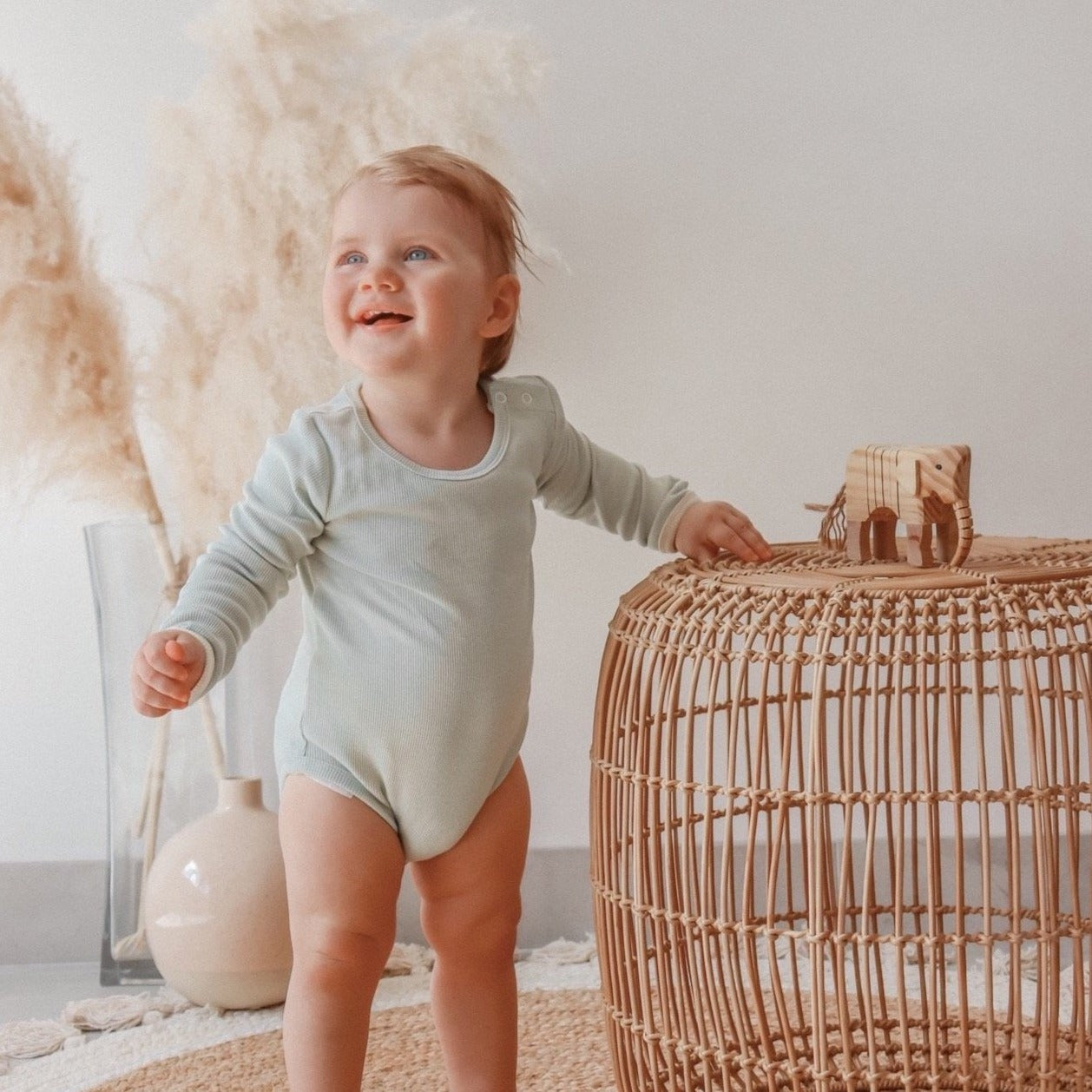 Dusty Sage Long Sleeve Onesie