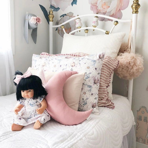 Dusty Pink Moon Cushion - Little Bambino Bear