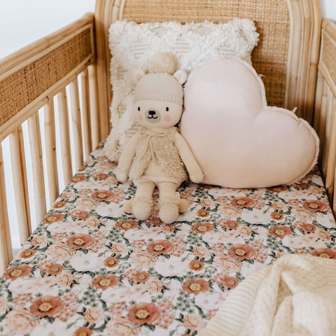 Florence Fitted Cot Sheet - Little Bambino Bear