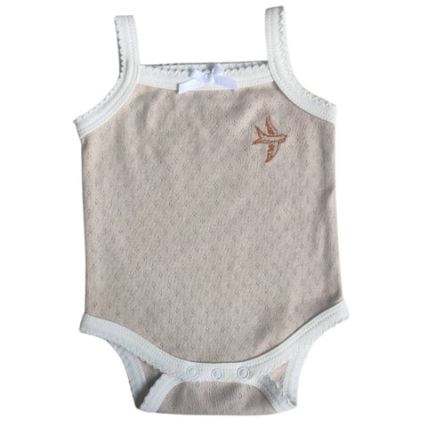 Heritage Beige frilly Singlet - Piper Bug