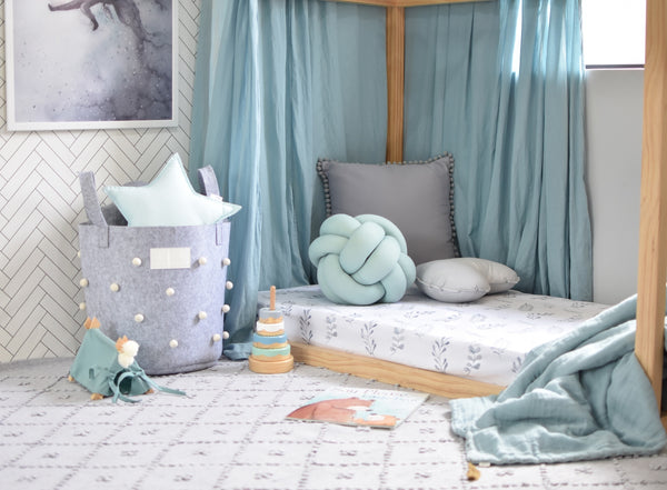 Snuggle Hunny Kids Fitted Cot Sheet in Wild Fern